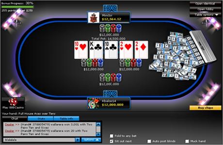 Игровой стол на 888Poker