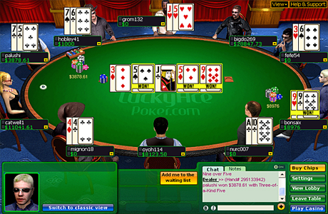 Игровой стол на Lucky Ace Poker