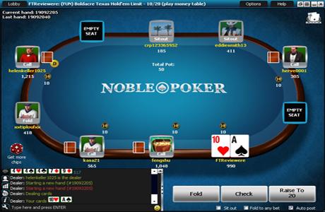 Игровой стол на Noble Poker