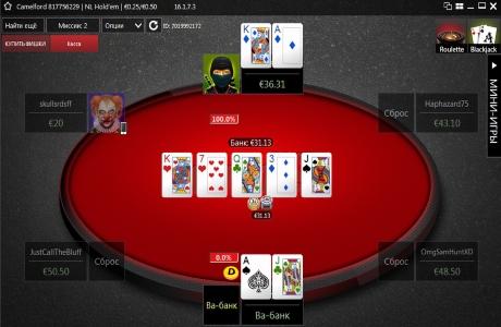 Игровой стол на Winner Poker